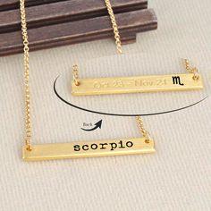 Scorpio Zodiac Astrology Horoscope Gold by LaurenSpencerJewelry
