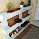 Ideas Pallet diy easy pallet shoe rack, diy, pallet, storage ideas - We built a custom DIY shoe rack for our garage. It's made from plywood and poplar using brad nails and pocket screws. The finish coat is just a basic semi-gloss… Build A Shoe Rack, Diy Shoe Rack, Shoe Racks, Shoe Rack Pallet, How To Make Shoe Rack From Pallets, Shoe Storage Made From Pallets, Shoe Rack For Porch, Shoe Rack Out Of Pallets, Homemade Shoe Rack