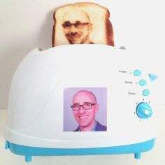 Let's eat a selfie! You don't have to be famous or Jesus to have your face on toast!