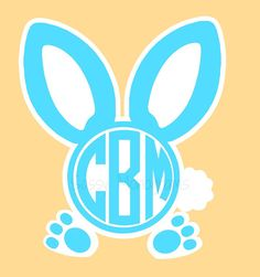 Easter Bunny Personalized Monogramed Vinyl by SassyMonogramAndMore, $3.50