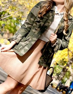 Camo and Leather in Central Park