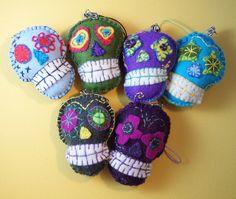 felt sugar skull | Felt skulls by CocoFlower | Flickr - Photo Sharing!
