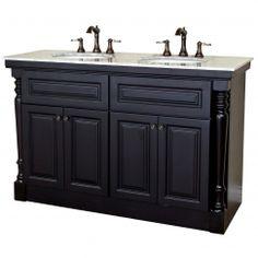 55 Inch Double Bath Vanity in Mahogany UVBH605522A55