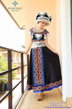 modern style Hmong clothing from Hmong Sister Shop Thai Traditional Dress, Traditional Outfits, Oriental Fashion, Asian Fashion, Hmong Clothing, Hmong People, Culture Clothing, Beautiful Costumes, Vintage Style Outfits
