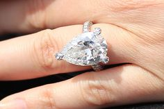 Holly Valance Engagement Ring   www.thediamondconsignmentstore.com