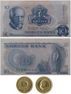 "Old Norwegian money, Norske ""gamle"" penger"