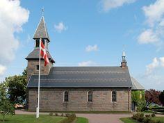 Gudhjem Kirke in Bornholm, Denmark