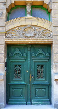I need an old door like this for the front door to my house.  Timisoara Old Door, Romania