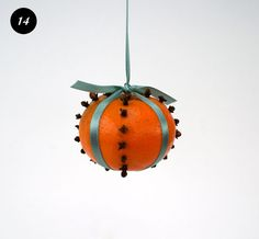 On the 13th day of Christmas crafts we gave to you Swedish oranges! Such a festive smell and so easy!