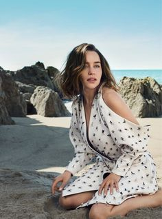 """Swept Away"" Emilia Clarke for Harper's Bazaar UK July 2016"