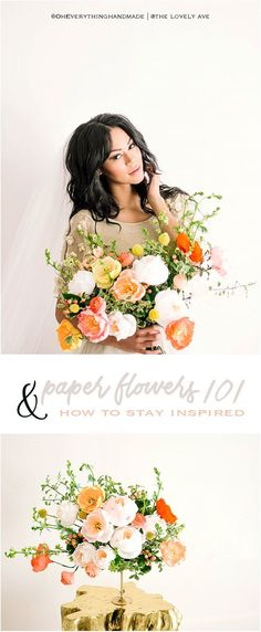 Hi, sweet friends and welcome to Paper Flowers 101 & How to Stay Inspired. I hope you followed along with my Paper Flowers 101 Series if you haven't make sure to browse through the blog to catch up.