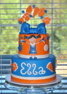 Auburn Cheerleading Cake
