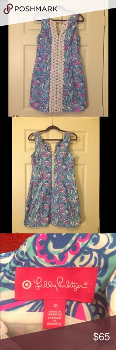 🎉NWT 🎉 LFT My Fans Shift Sz 10 Gorgeous NWT My Fans Shift - purchased off another site for the same price and looking to get back what I sold. Perfect condition! Only selling because it's a little too snug on me. Pet free and smoke free home. Lilly Pulitzer for Target Dresses Mini