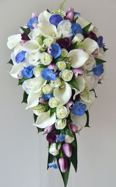 Blue and mix flower teardrop