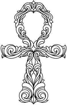 Ornate Ankh | Urban Threads: Unique and Awesome Embroidery Designs