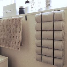 How to style and organize small bathrooms - the mood palette 36 trendy bathroom ideas Diy small towel trendy bathroom ideas Diy small towel holder diy best bathroom towel rack designs of 2018 Bathroom Towel Storage, Bathroom Towels, Ikea Hack Bathroom, Bath Towel Racks, Small Bathroom Organization, Bathroom Shelves, Diy Rangement, Diy Bathroom Remodel, Diy Storage