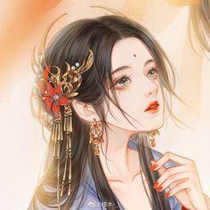 Chinese Drawings, Chinese Art, Beautiful Fantasy Art, Beautiful Anime Girl, Anime Art Girl, Manga Art, Anime Chibi, Manga Anime, Fanart Bts