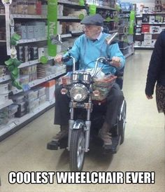 if I ever need a wheel chair!