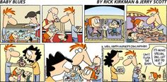 Baby Blues by Rick Kirkman and Jerry Scott - May 2013 Baby Blues Comic, Blue Sunday, Mothers Day May, Comics Kingdom, Todays Comics, Three Kids, Comic Strips, Funny Stuff, Funny Things