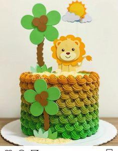 Best Cake Desing For Girls Creative Ideas Safari Birthday Cakes, Jungle Theme Cakes, Jungle Theme Birthday, Safari Cakes, Safari Party, Christening Cake Designs, Bolo My Little Pony, Safari Baby Shower Cake, Chocolate Dreams