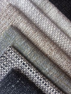 JAB coastal textures color story,  clockwise from top right: Belgravia/093, Frozen Secrets/071, Hampstead/070, Frozen Secrets/073, Belgravia/091, Hampstead/091, Frozen Secrets/095 #Texture #Chunky #JAB Upholstery