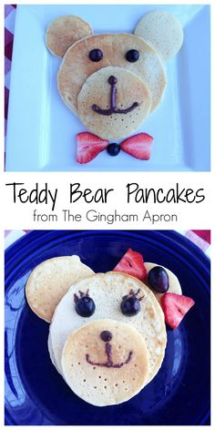 Teddy Bear Pancakes- A fun and simple way to make a special breakfast. (Animal Pancakes for kids)