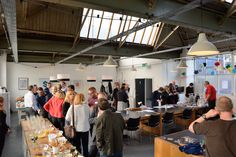 Guests arriving for the 13th May social networking session.