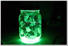 Spooky Glow Jars Halloween Craft