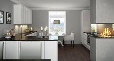 Kjøkkenstue (Kubikk sort/hvit høyglans)