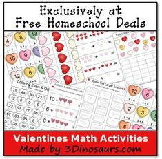Valentines Activities for Kids: Free Math Printables