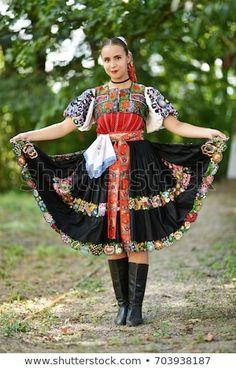 "Stock fotografie ""Slovakian Folklore Traditional Costume"" (k okamžité úpravě) 703938187 Folk Costume, Costumes, Popular, Marceline, Ethnic Fashion, Harajuku, Photo Editing, Royalty Free Stock Photos, Traditional"