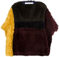 NatYOUral's pieced poncho is made of ethical alpaca fur, meaning it's made of fleece that is cut and woven without harming the animal . Alpaca Poncho, Fur Coats, Work Fashion, Color Blocking, Faux Fur, Winter Fashion, Winter Hats, Designers, Europe