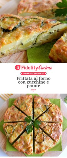 Zucchini Frittata, Quiche, Good Healthy Recipes, Sweet Recipes, Fast And Slow, Veggie Delight, Food Humor, Light Recipes, I Foods