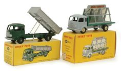 French Dinky 579/33c Simca Glaziers Truck and 578 Tipper