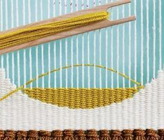Here's a must-know beginning tapestry weaving technique: weaving circular shapes! Plus, take a peek at Handwoven's new beginner tapestry weaving kit!