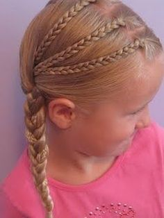 Triple Braided Pocahontas Braids & Circus Tickets - Babes In Hairland - My girls love braids! Great website for kids hair ideas =] I need to check on this for my grand-da - Cool Hairstyles For Boys, Little Girl Hairstyles, Boy Hairstyles, Pretty Hairstyles, Braided Hairstyles, Teenage Hairstyles, Female Hairstyles, Stylish Hairstyles, Style Hairstyle