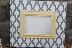 5x7 Arched Moroccan lightly distressed frame.  Frame by 205Designs, $40.00