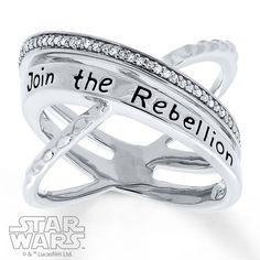 Kay Jewelers x Star Wars Sterling Silver Rebel criss-cross Diamond ring
