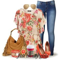 summer tunic in floral, Fashion stylish tunics for woman http://www.justtrendygirls.com/fashion-stylish-tunics-for-woman/