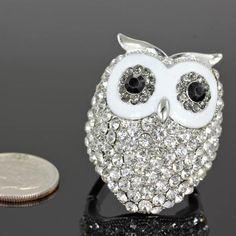 Rhinestone Owl Stretch Ring, $11.99 (http://www.cowgirlblingranch.com/products/rhinestone-owl-stretch-ring.html)