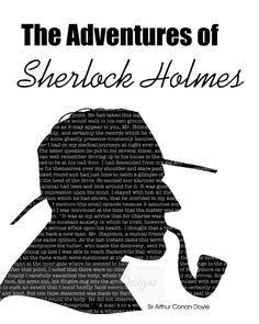 Sherlock Holmes * Sir Arthur Conan Doyle * livre citation * moderne * minimaliste * typographie sticker * Art littéraire * littérature