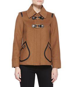 Francoise Toggle-Front Felt Jacket at CUSP.
