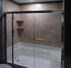 Classic Bypass Shower with Inline Panel featuring Obscure glass & Silver finish. Shower Enclosure, Inline, Shower Doors, It Is Finished, Bathroom, Classic, Silver, Design, Washroom
