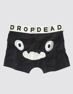 Kiba Bum Black Boxer Shorts, Drop Dead Clothing #ddpintownin