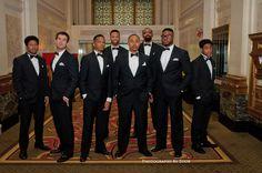 unique groomsmen groom group shot hotel