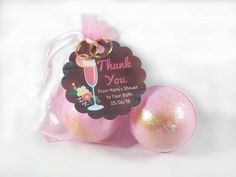 24 Bath Bomb Bridal Shower Favors ozs each in Organza Gift Bag with Personalized Gift Tag, Warm Apple Cider, White Frosting, 1. Tag, Fall Scents, Pink Sugar, Bridal Shower Favors, Bridal Showers, Custom Tags, Tag Design