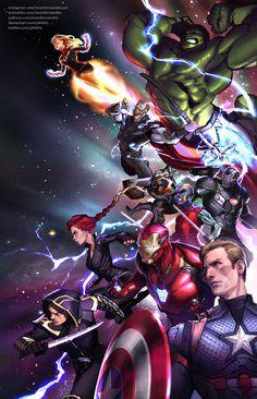 """""""Avengers: Endgame"""" fan art by PkBlitz Marvel Vs, Marvel Comics, Marvel Heroes, Marvel Characters, Captain Marvel, Ace Comics, Marvel Universe, Avengers Art, Marvel Wallpaper"""