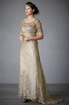 Beautiful vintage look to this Fairy Song wedding gown by BHLDN Bhldn Wedding Dress, Pretty Wedding Dresses, Bridal Gowns, Wedding Gowns, Wedding Menu, Wedding Attire, Fall Wedding, Wedding Ideas, Vintage Dresses