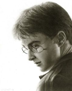Daniel Radcliffe as Harry Potter pencil drawing