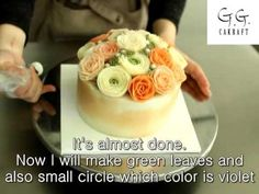 Hot to make flower cake with butter cream (full process 2 ) #7 - YouTube